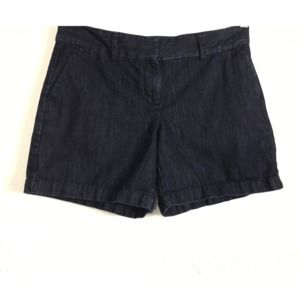 Ann Taylor LOFT 4 100% Cotton Denim Chino Shorts